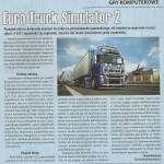 """Skan artykułu dotyczącego ETS 2 z miesięcznika """"Ciężarówka"""""""